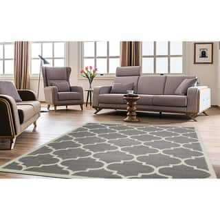 Ottomanson Paterson Collection Contemporary Moroccan Trellis Design Lattice Area Rug 8 X 10