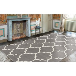 Ottomanson Royal Collection Contemporary Moroccan Trellis Design Area Rug - 8' x 10'