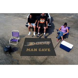 Fanmats Machine-Made Anaheim Ducks Black Nylon Man Cave Tailgater Mat (5' x 6')