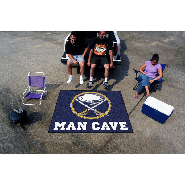 Fanmats Machine-Made Buffalo Sabres Blue Nylon Man Cave Tailgater Mat (5' x 6')