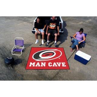 Fanmats Machine-Made Carolina Hurricanes Red Nylon Man Cave Tailgater Mat (5' x 6')