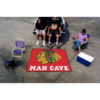 Fanmats Machine-Made Chicago Blackhawks Red Nylon Man Cave Tailgater Mat (5' x 6')
