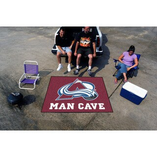Fanmats Machine-Made Colorado Avalanche Burgundy Nylon Man Cave Tailgater Mat (5' x 6')