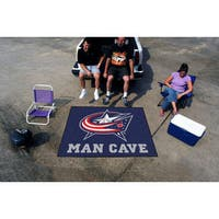 Fanmats Machine-Made Columbus Blue Jackets Blue Nylon Man Cave Tailgater Mat (5' x 6')