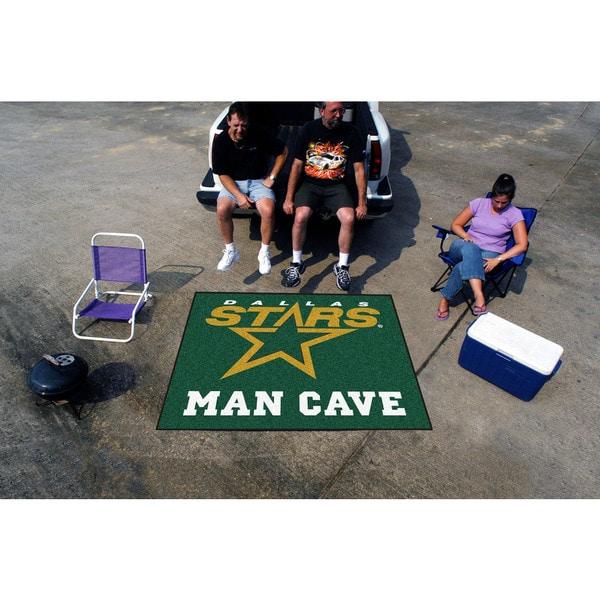 Fanmats Machine-Made Dallas Stars Green Nylon Man Cave Tailgater Mat (5' x 6')