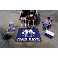 Fanmats Machine-Made Edmonton Oilers Blue Nylon Man Cave Tailgater Mat (5' x 6')