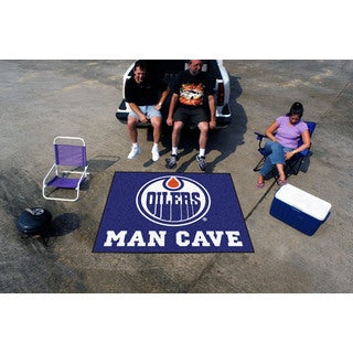 Fanmats Machine-Made Edmonton Oilers Blue Nylon Man Cave Tailgater Mat (5' x 6')