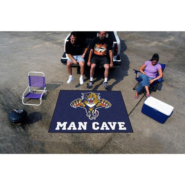 Fanmats Machine-Made Florida Panthers Blue Nylon Man Cave Tailgater Mat (5' x 6')