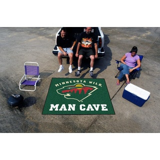 Fanmats Machine-Made Minnesota Wild Green Nylon Man Cave Tailgater Mat (5' x 6')