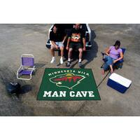 Fanmats Machine-Made Minnesota Wild Green Nylon Man Cave Tailgater Mat (5' x 6')