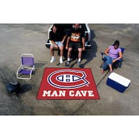 Fanmats Machine-Made Montreal Canadiens Red Nylon Man Cave Tailgater Mat (5' x 6')