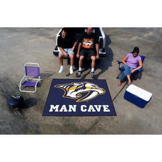 Fanmats Machine-Made Nashville Predators Blue Nylon Man Cave Tailgater Mat (5' x 6')
