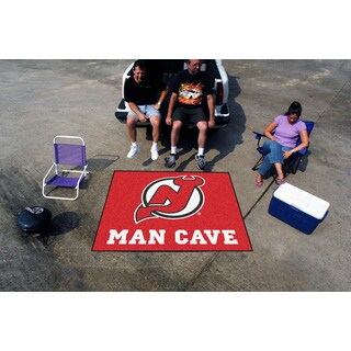 Fanmats Machine-Made New Jersey Devils Red Nylon Man Cave Tailgater Mat (5' x 6')