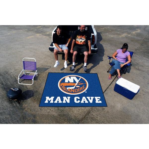 Fanmats Machine-Made New York Islanders Blue Nylon Man Cave Tailgater Mat (5' x 6')