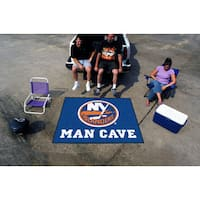 Fanmats Machine-Made New York Islanders Blue Nylon Man Cave Tailgater Mat (5' x 6')
