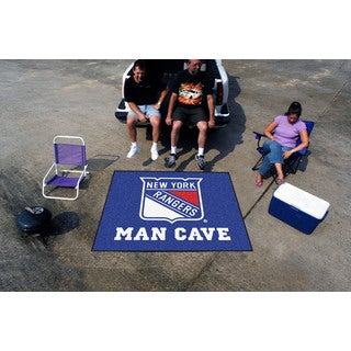 Fanmats Machine-Made New York Rangers Blue Nylon Man Cave Tailgater Mat (5' x 6')