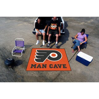 Fanmats Machine-Made Philadelphia Flyers Orange Nylon Man Cave Tailgater Mat (5' x 6')