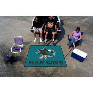 Fanmats Machine-Made San Jose Sharks Turquoise Nylon Man Cave Tailgater Mat (5' x 6')