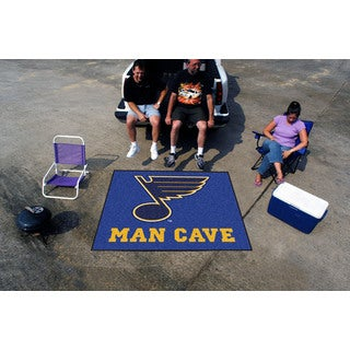 Fanmats Machine-Made St Louis Blues Blue Nylon Man Cave Tailgater Mat (5' x 6')