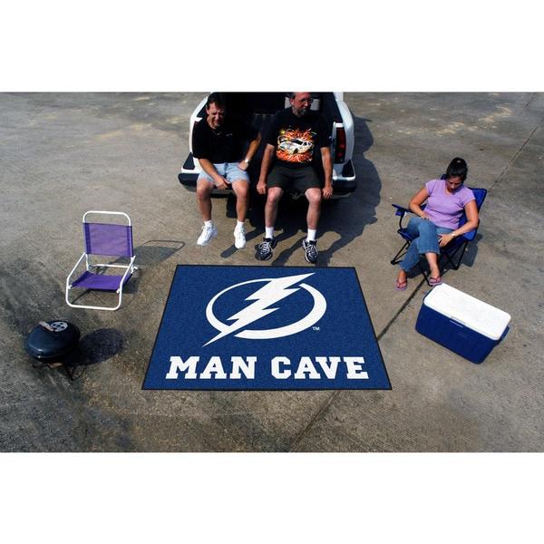 Fanmats Machine-Made Tampa Bay Lightning Blue Nylon Man Cave Tailgater Mat (5' x 6')