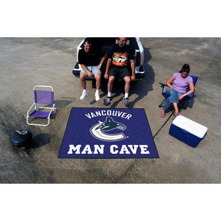 Fanmats Machine-Made Vancouver Canucks Blue Nylon Man Cave Tailgater Mat (5' x 6')