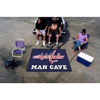 Fanmats Machine-Made Washington Capitals Blue Nylon Man Cave Tailgater Mat (5' x 6')