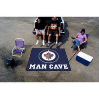 Fanmats Machine-Made Winnipeg Jets Blue Nylon Man Cave Tailgater Mat (5' x 6')