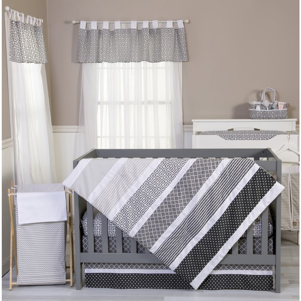 Shop Trend Lab Ombre Gray 3 Piece Crib Bedding Set Free