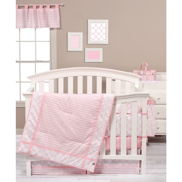 Shop Trend Lab Pink Sky 3 Piece Crib Bedding Set Free