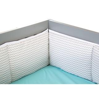 Trend Lab Dove Gray Chevron Crib Bumper