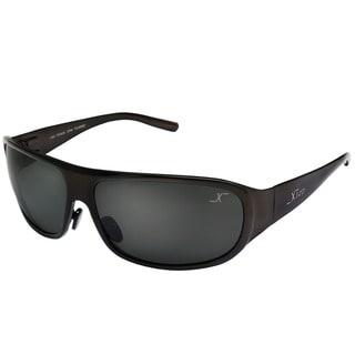 Xezo Men's Incognito Solid Titanium Polarized Wrap Sunglasses