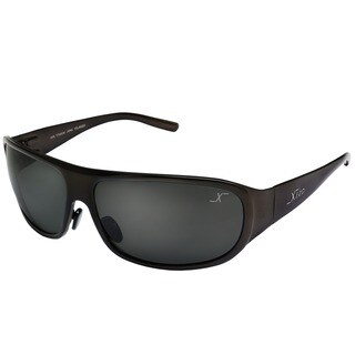 Xezo Men's Incognito Solid Titanium Polarized Wrap Sunglasses