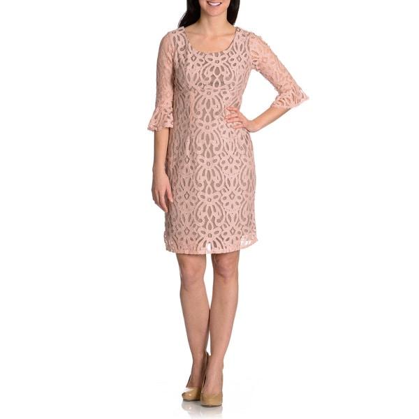 Rabbit Rabbit Rabbit Women's Lace Bell Sleeve Sheath Dress