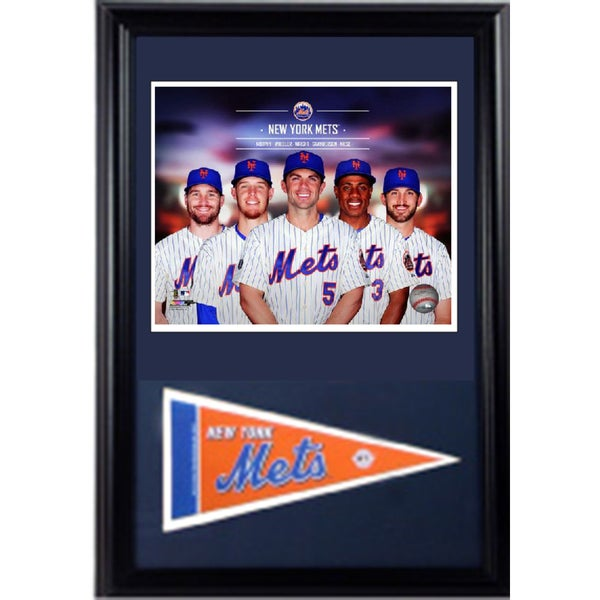 MLB 2014 New York Mets 12x18 Pennant Frame