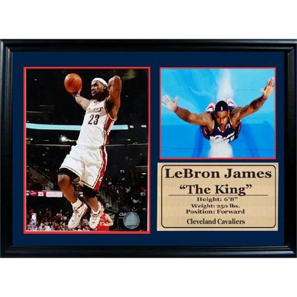 NBA Cleveland Cavaliers LeBron James 12x18 Photo Stat Frame
