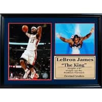 NBA Cleveland Cavaliers LeBron James 12x18 Photo Stat Frame