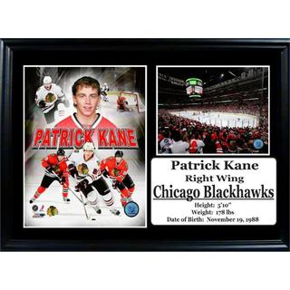 NHL Chicago Blackhawks Patrick Kane 12x18 Photo Stat Frame