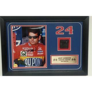 Nascar Jeff Gordon 12x18 Autographed Tire Piece Frame