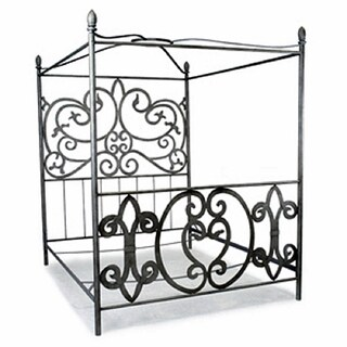 Corsican Queen/ King Wrought Iron Canopy Bed