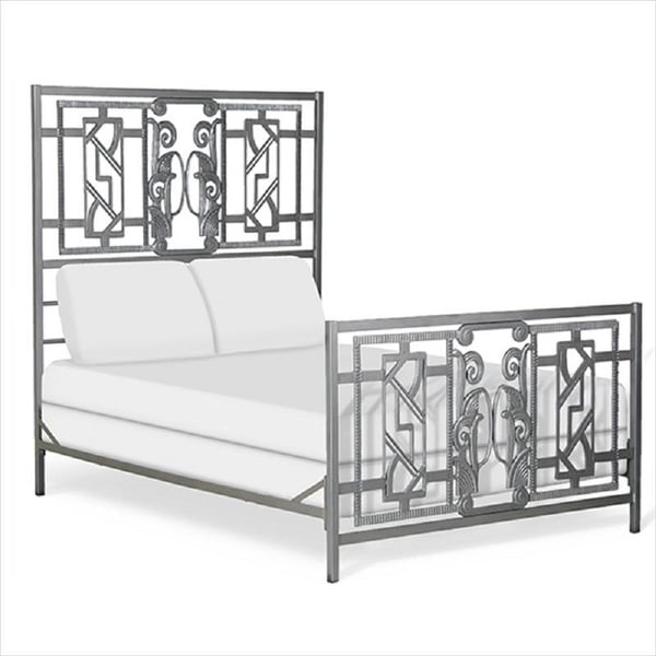 Shop Corsican Queen King Wrought Iron Mgm Art Deco Bed Free