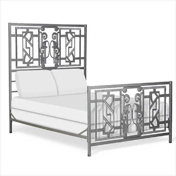 Corsican Queen King Wrought Iron Mgm Art Deco Bed Overstock 10098639