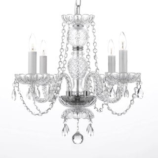 Venetian Style All Crystal 4-Light Chandelier with Austrian Crystal