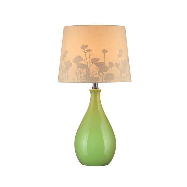 Lite Source Edaline 1-light Green Table Lamp