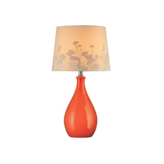 Lite Source Edaline 1-light Orange Table Lamp