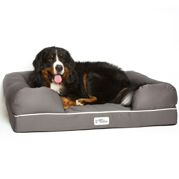 "PetFusion Small Pet Bed w//Solid 2.5/"" Memory Foam YKK premium Waterproof liner"
