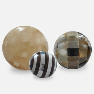 Shilling Decorative Mosaic Orbs (Set of 3)