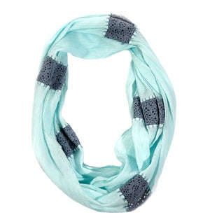 Handmade Crochet Aqua Infinity Scarf (India)