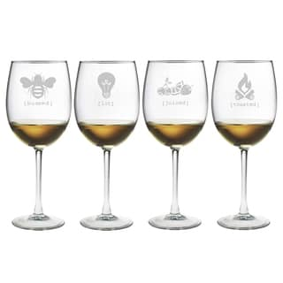 Tipsy Collection Wine Glasses (Set of 4)