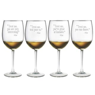 Trust Me Wine Glasses (Set of 4)