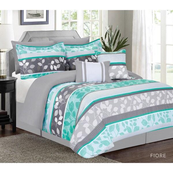 Fiora Aqua 7-piece Comforter Set